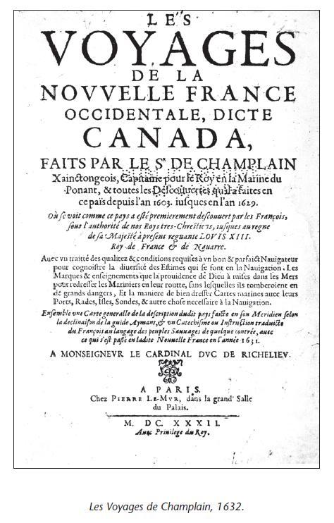 Les Voyages de Champlain, 1632. Page 157 du livre.