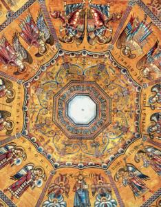 Les hiérarchies angéliques, mosaïque, vers la moitié du XIIIe siècle, Florence, baptistère