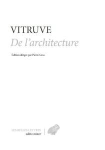 Vitruve, De l'architecture