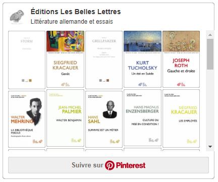 Litterature allemande aux Belles Lettres