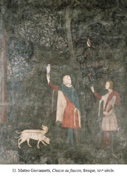 Fresque chasse bestiaire du pape